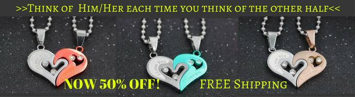 couple necklace ad